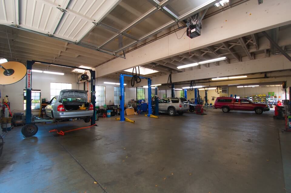Photograph of inside Ger-Brock's automotive shop