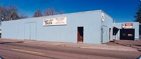 Photograph of original Ger-Brock automotive building